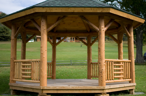 Log and timber specialty railings