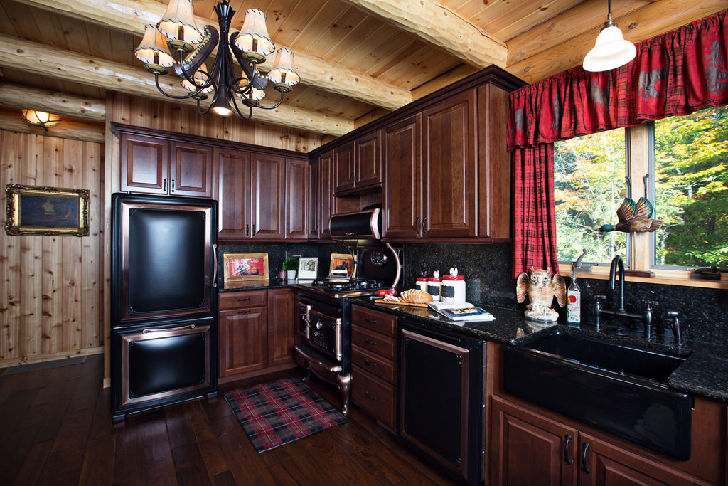 Beaver Mountain Log Homes Owls Club Antique Kitchen