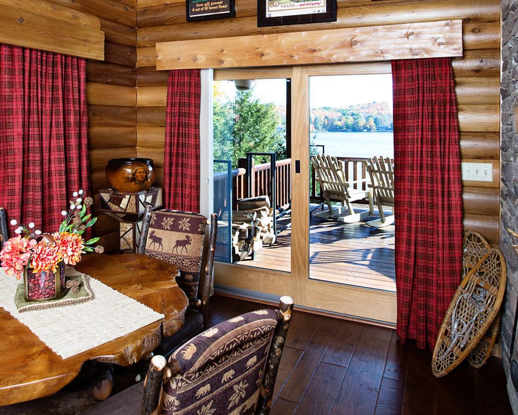 Beaver Mountain Log Homes Owls Club Dining Room