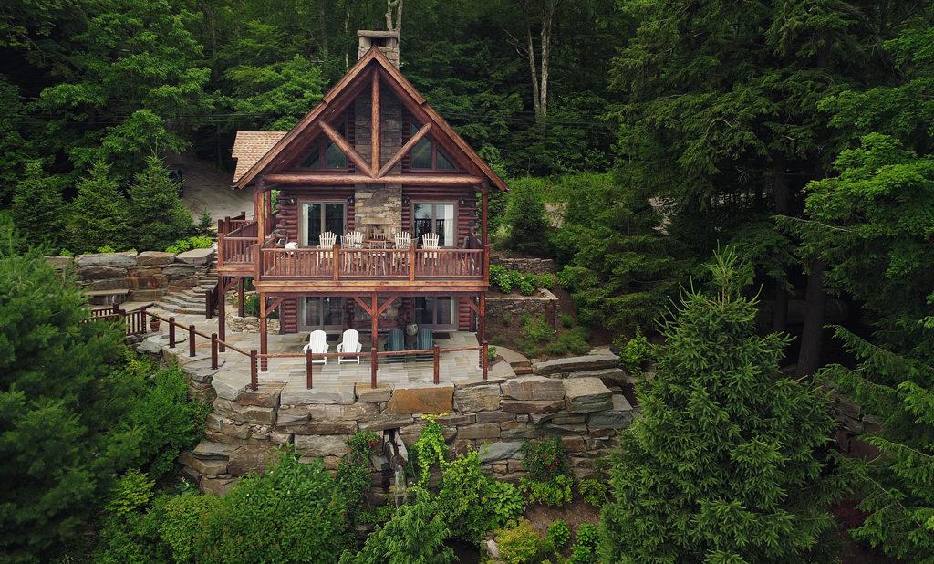 Beaver Mountain Log Homes Owls Club Exterior Rear