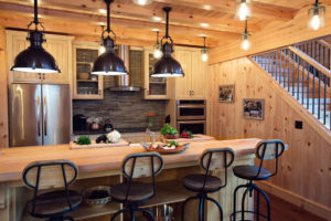 Beaver Mountain Log Homes Country Cubco Red Cedar Timber Home Kitchen