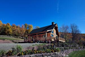 Beaver Mountain Log Homes Mountain View Exterior Porch