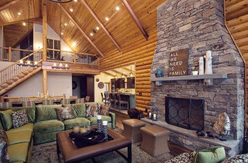 Beaver Mountain Log Home Interior