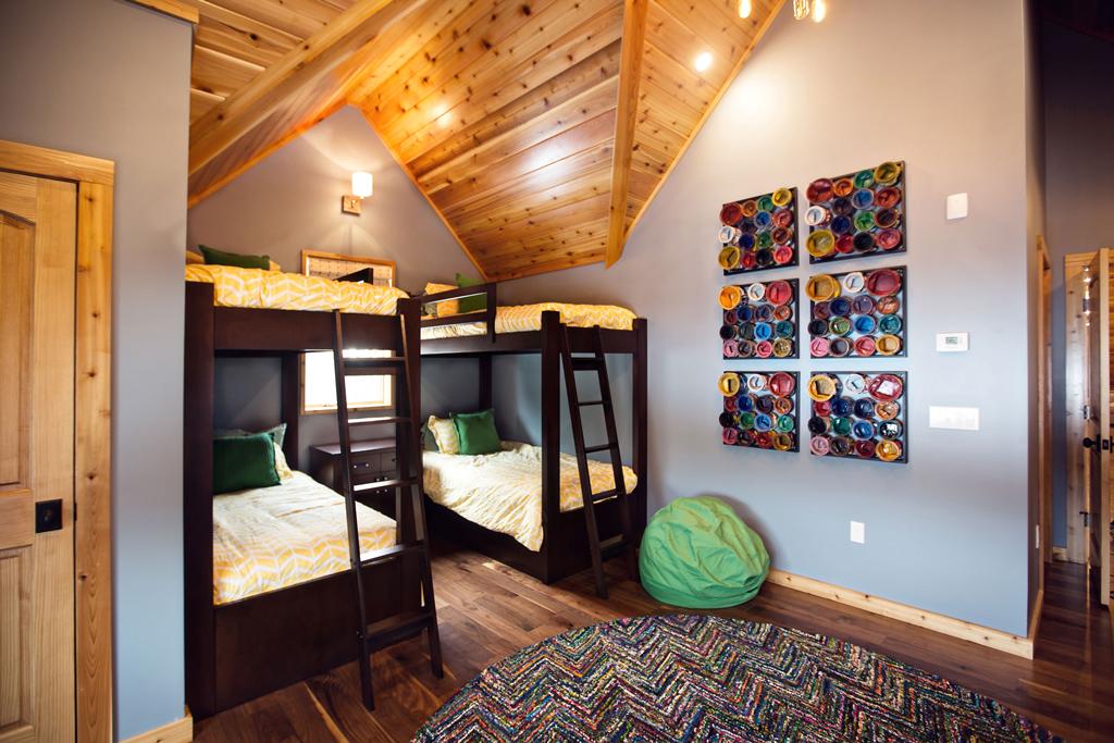 Beaver Mountain Log Homes Cedar Crest Cabin Bunk Beds