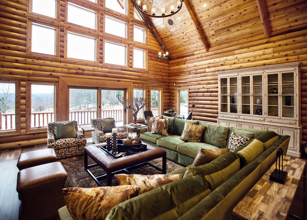 Cedar Crest Cabin Cedar Log Home Livingroom