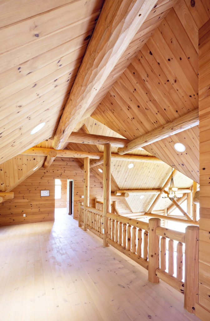 Beaver Mountain Log Homes Grandview Model Home Loft