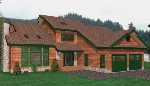 Adirondack Timber Home Classic Floor Plan