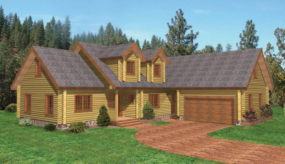 Burlington Log Home Classic Floor Plan