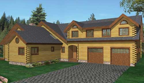 Cannonsville Log Home Classic Floor Plan