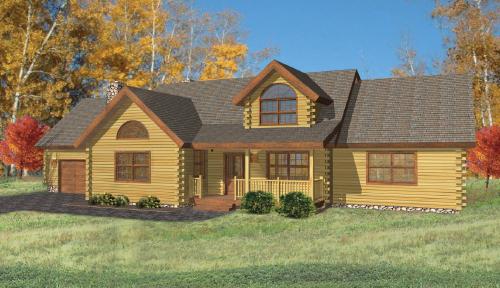 Covington Log Home Classic Floor Plan