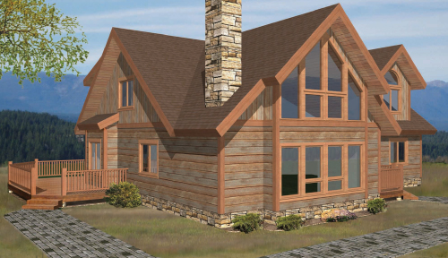 Eagle Point Timber Home Classic Floor Plan