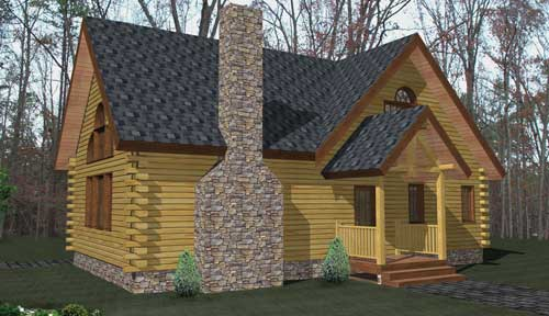 Glens Falls Log Home Classic Floor Plan