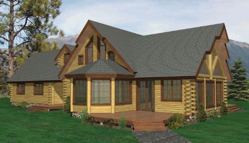 Glimmerglass Log Home Custom Floor Plan