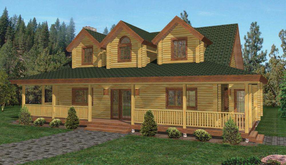 Jefferson Log Home Elevation