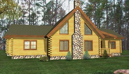 Lexington Log Home Classic Floor Plan