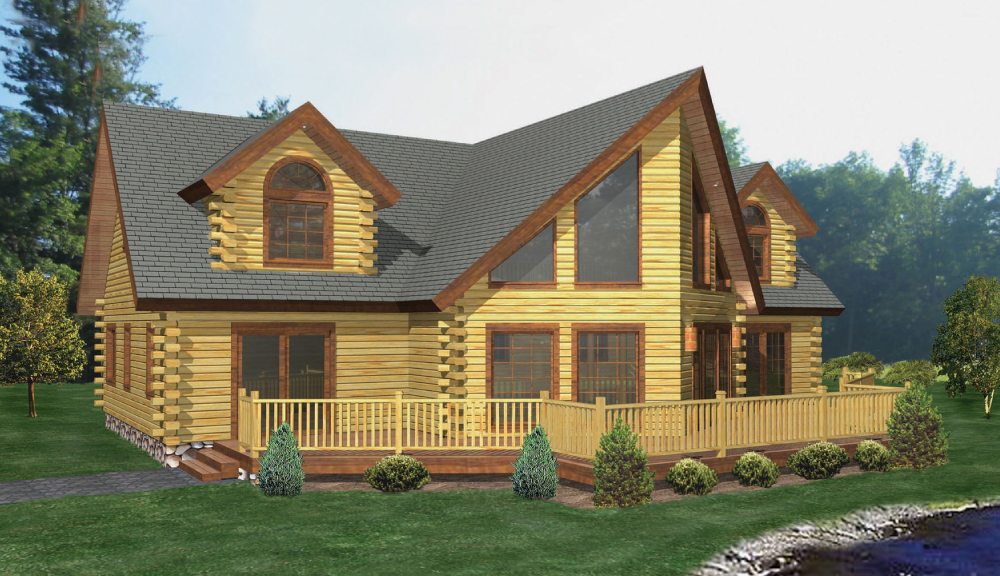 Ouaquaga Log Home Classic Floor Plan