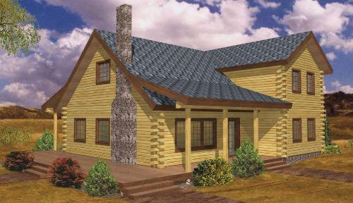 Richmond Log Home Classic Floor Plan