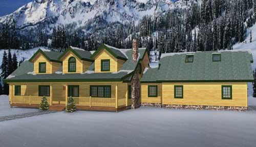 Timber Ridge Log Home Classic Floor Plan