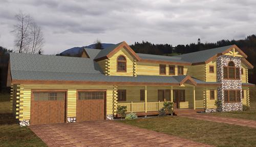 Lake George Log Home Classic Floor Plan
