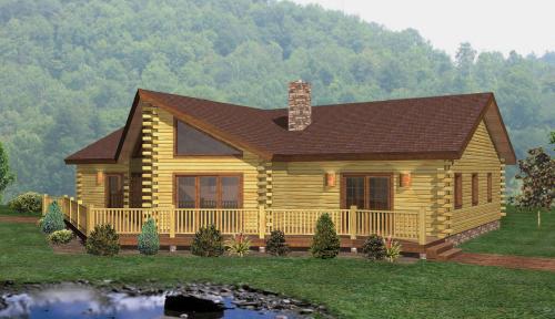 Lakeshore Log Home Classic Floor Plan