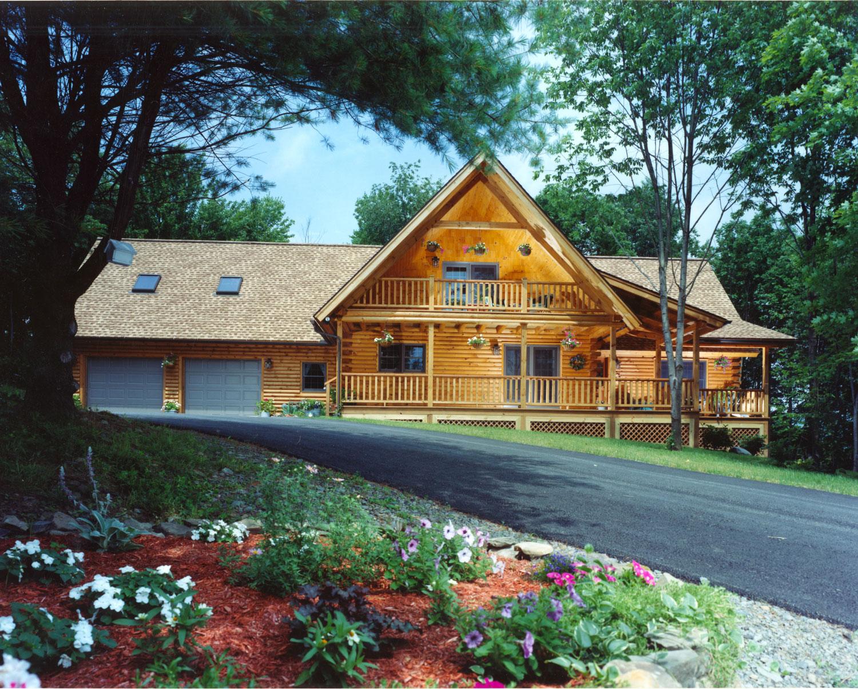 Beaver Mountain Classic Lodge Log Home