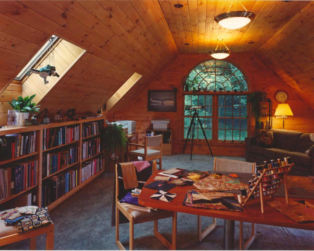 Beaver Mountain Classic Lodge Log Home Hobby Room
