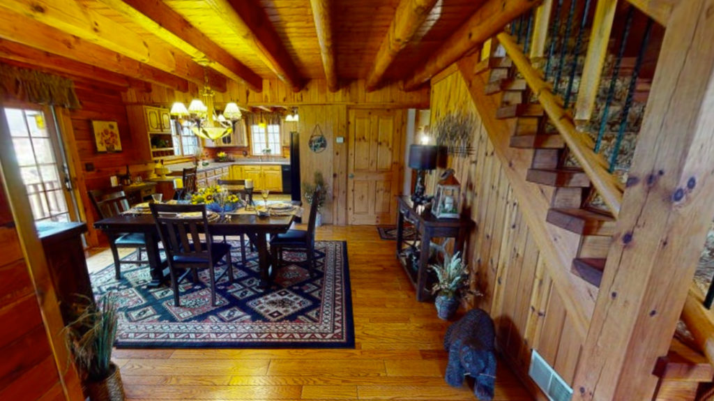 Beaver Mountain Log Homes Classic Dining Room