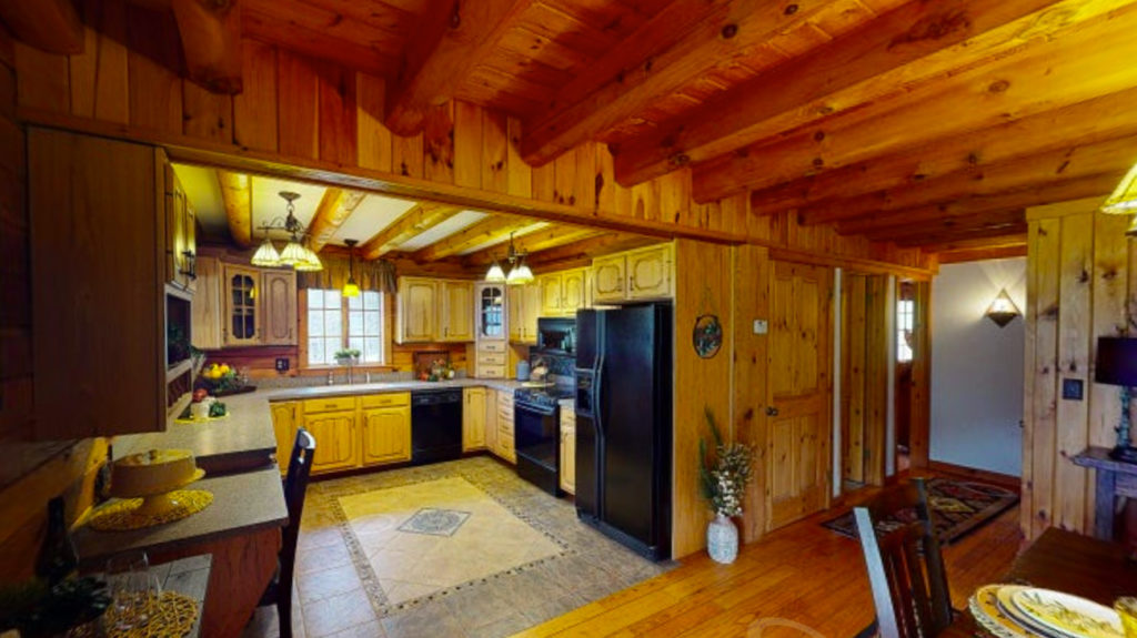 Beaver Mountain Log Homes Classic Lodge Kitchen