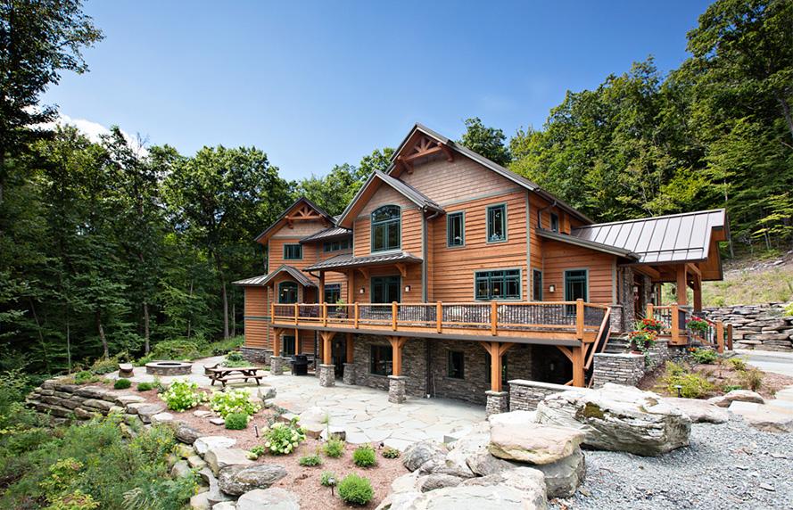 Gerald Cedar Timber Home Exterior