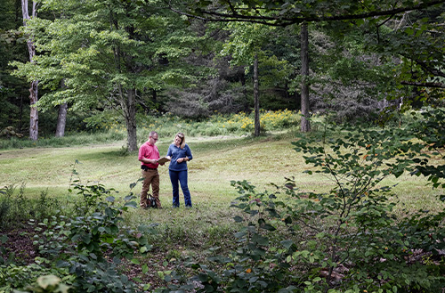 Beaver Mountain on site designing new home